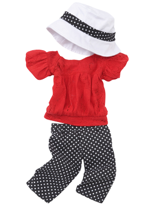 Costume for girls with pants